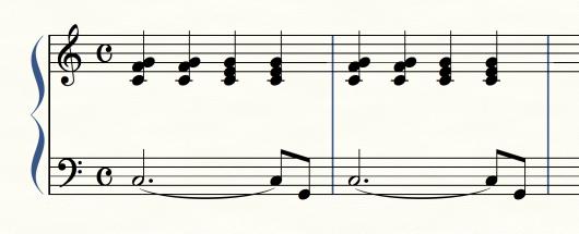卒業ソングの伴奏形