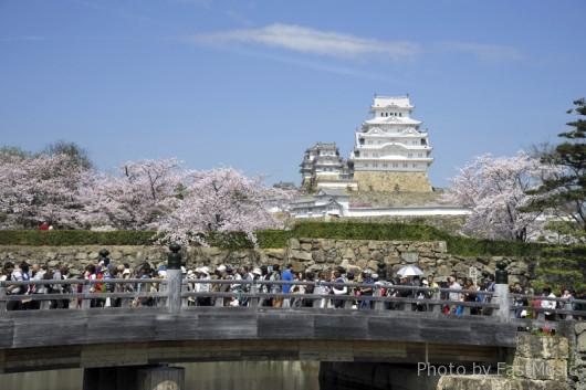 姫路城(桜門橋)