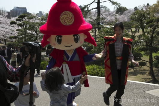 姫路城のゆるキャラ「官兵衛くん」
