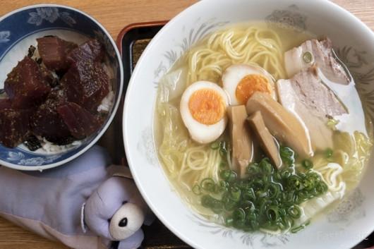 ラーメン河「塩ラーメン・マグロ丼セット」