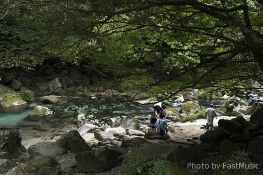雄川の滝展望所までの道中