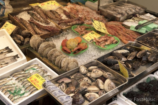 黒門市場の海鮮