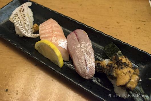 黒門市場・寿司処やまと屋「あぶりにぎりセット」