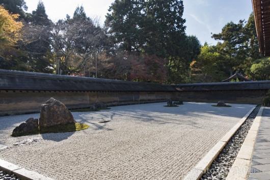 龍安寺石庭の紅葉
