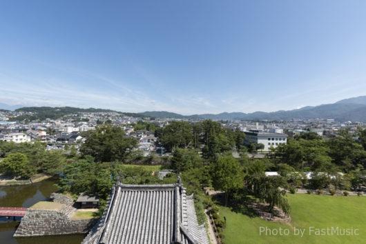 松本城(天守閣眺望・北)