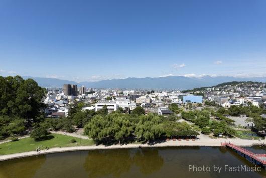 松本城(天守閣眺望・西)
