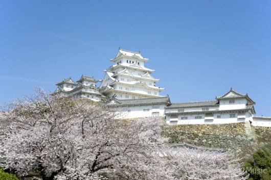 迎賓館から望む姫路城