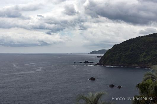 後藤鼻展望所から望むリアス式海岸