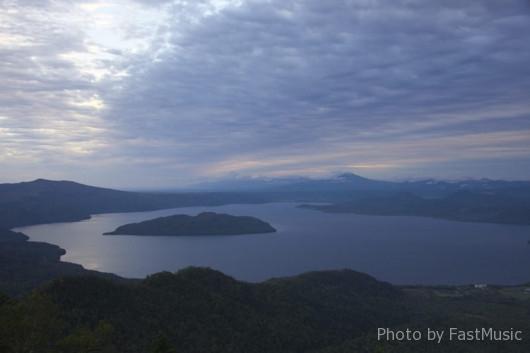 津別峠展望台と屈斜路湖